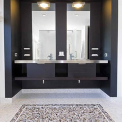 modern bathroom by Hughes Construction, Inc