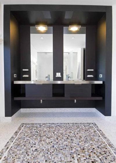 Modern Bathroom by Hughes Construction, Inc