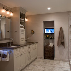 traditional bathroom by Cabin John Builders