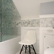 Transitional Bathroom by Design Cube Inc.