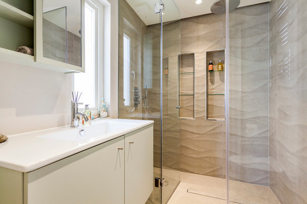 Contemporary Bathroom by Aflux Designs