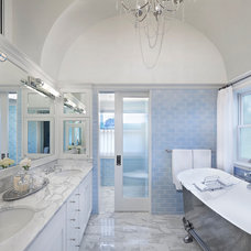 Transitional Bathroom by Tom Stringer Design Partners
