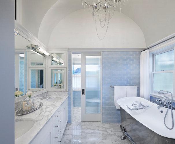 Transitional Bathroom by Tom Stringer Design Partners