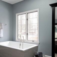 Transitional Bathroom by Kitchen + Bath Design + Construction, LLC