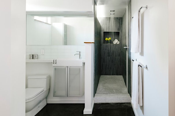 Modern Bathroom by Transom Design Build