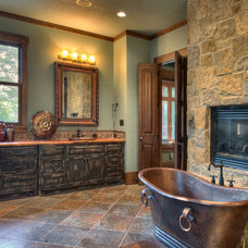 Rustic Bathroom by Ellis Custom Homes LLC
