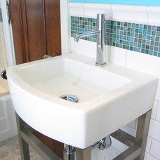 Eclectic Bathroom by Wrightworks, LLC