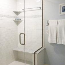 Transitional Bathroom by Amethyst Interiors LLC