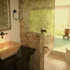 Tropical Bathroom by Natural Structures