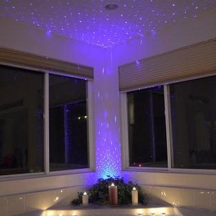 Idee per una piccola stanza da bagno boho chic