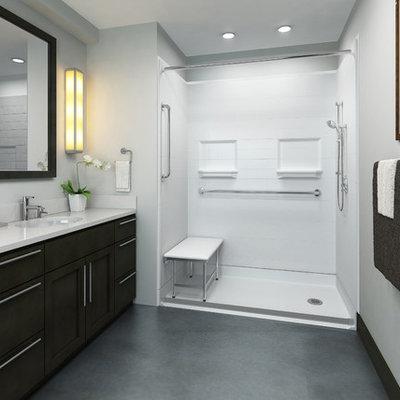 Bathroom - large industrial bathroom idea