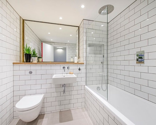 subway wall tile bathroom subway tile walls houzz 20737