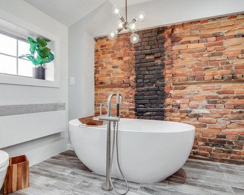 badezimmer mit grauen schr nken und schwarz wei en fliesen design ideen beispiele f r die. Black Bedroom Furniture Sets. Home Design Ideas