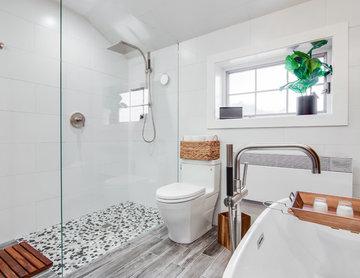Industrial Chic Spa Bathroom