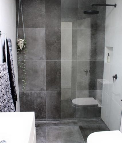 Industrial badezimmer mit zementfliesen ideen beispiele - Zementfliesen dusche ...