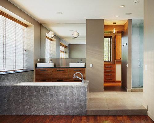 Industrial badezimmer mit kalkstein waschtisch design for Badezimmer industriedesign