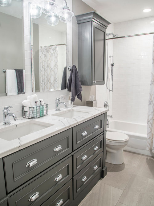 Industrial bathroom design ideas remodels photos with for Bath remodel gurnee