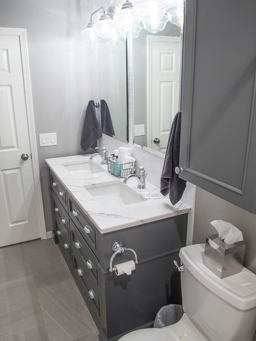 White bathroom design ideas remodels photos for Bath remodel gurnee
