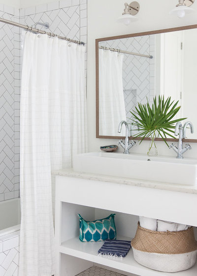 Beach Style Bathroom by Crowell + Co. Interiors