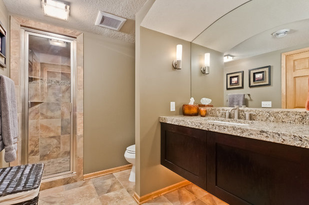 Good Contemporary Bathroom by Finished Basement Company