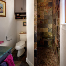Eclectic Bathroom by CG&S Design-Build