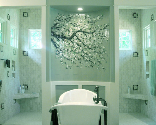 Sea glass mosaic home design ideas pictures remodel and for Sea glass bathroom design