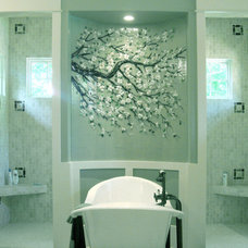 Transitional Bathroom by Designer Glass Mosaics
