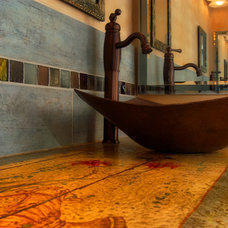 Eclectic Bathroom by Artesano Copper Sinks