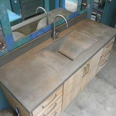 Modern Bathroom by ConcretePete LLC