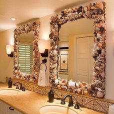 Tropical Bathroom by Barbara Krai Interior Design