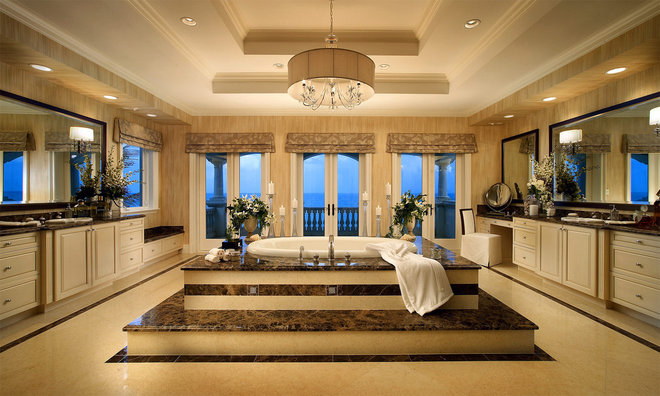 Mediterranean Bathroom by Grossman Photography