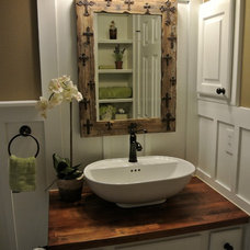 Farmhouse Bathroom by The Staged Style