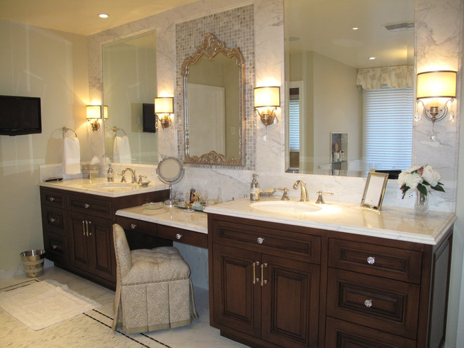 Traditional Bathroom by Fran Kerzner- DESIGN SYNTHESIS