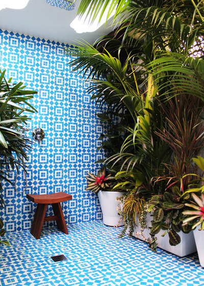 Tropical Bathroom by Marcia Prentice Photography