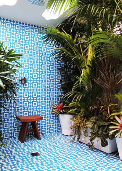 Tropical Bathroom by Marcia Prentice Photography