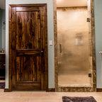 Sophisticated Bathroom Elements Rustic Bathroom San