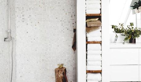 16 solutions originales pour ranger les serviettes de bain