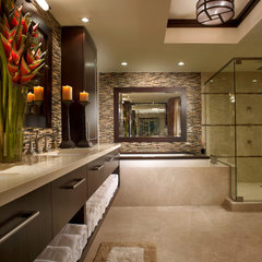 asian bathroom by Interiors by Steven G