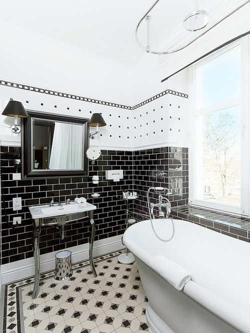 Black Subway Tile Home Design Ideas Remodel and