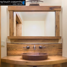 Rustic Bathroom by Finishing Touch Carpentry