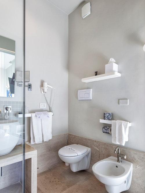 Idee Bagno Grigio: Bathroom palette grey u pink.