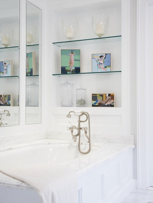 Excellent Bathroom Instant Glass Bathroom Shelves Storage Idea For Shampoo And