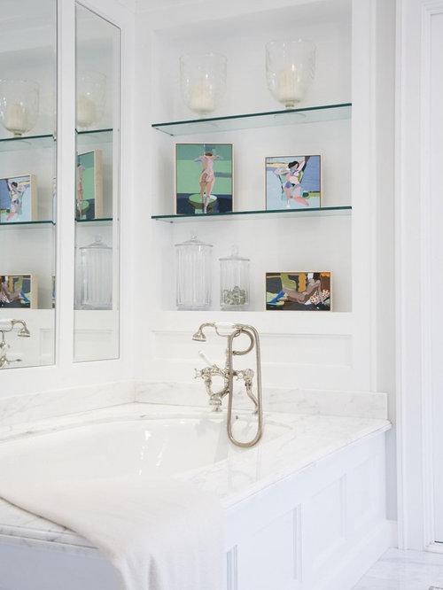 Excellent Bathroom Instant Glass Bathroom Shelves Storage Idea For Shampoo And