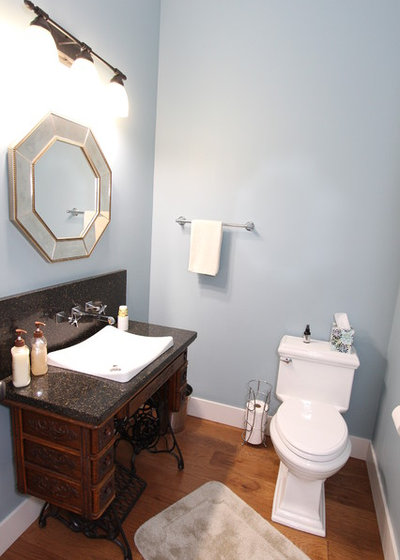 Transitional Bathroom by Rycenga Building Center