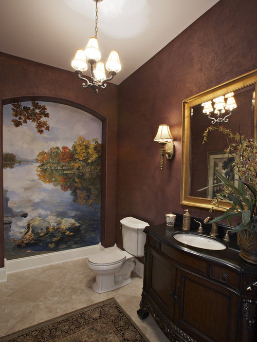 Bathroom Designs Brown Walls burgundy bathroom ideas, designs & remodel photos | houzz