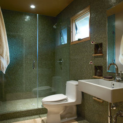 Auckland Dark Hardwood Floor Bathroom Design Ideas Pictures Remodel And Decor
