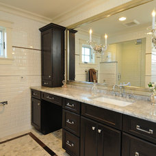 Transitional Bathroom by Kitchen Design Partners Inc.