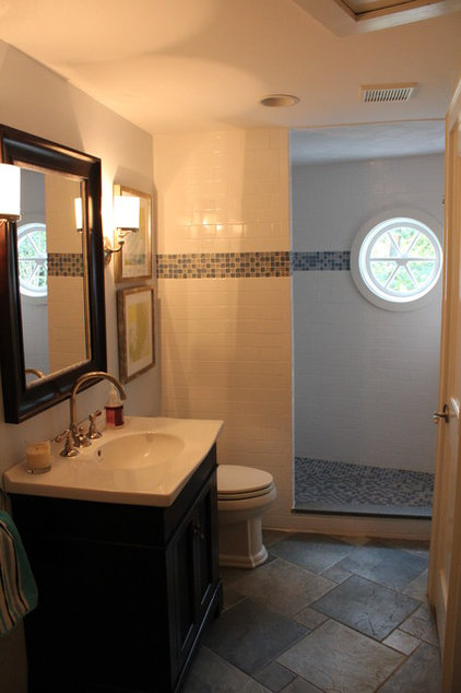 Traditional Bathroom by Tara Veith Design, LLC
