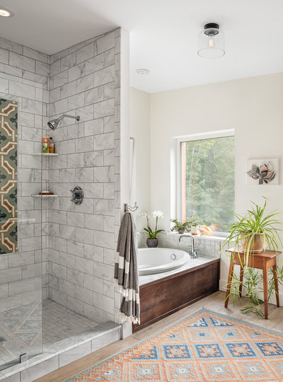 Transitional Bathroom by Kaplan Thompson Architects