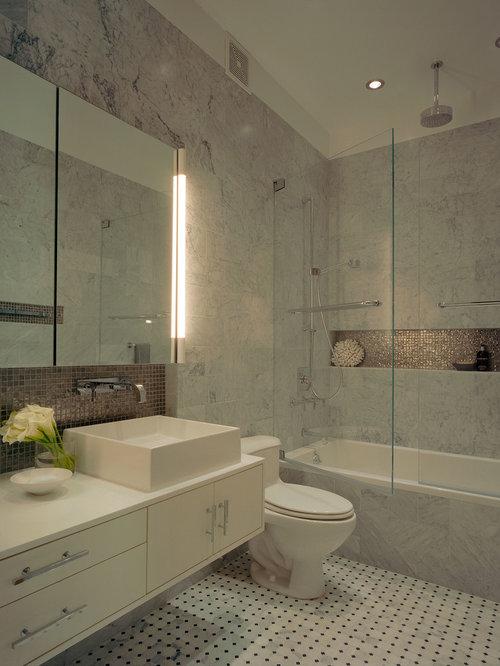 Bathroom Niche Decor : Long niche houzz